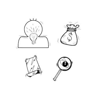 Ilustracja początkowy biznesowy doodle