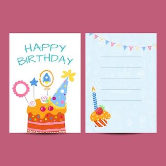 Ilustracja pocztówka z okazji urodzin