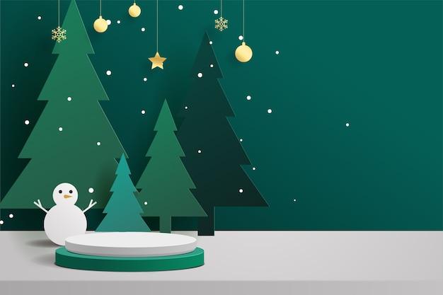 Ilustracja podium o tematyce bożonarodzeniowej