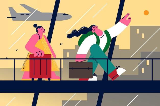 Ilustracja podróży turystyka wakacje