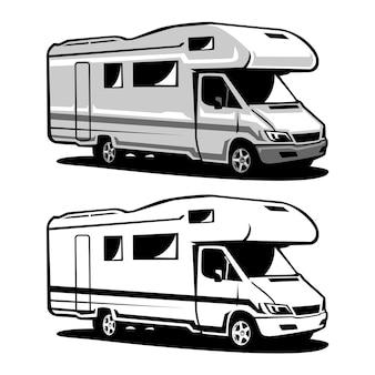 Ilustracja pojazdu kempingowego