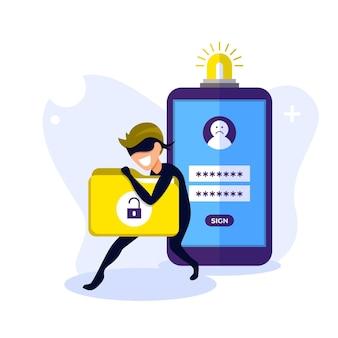 Ilustracja pojęcia kradzieży danych