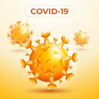 Ilustracja Pojedynczego Wirusa Premium Wektorów