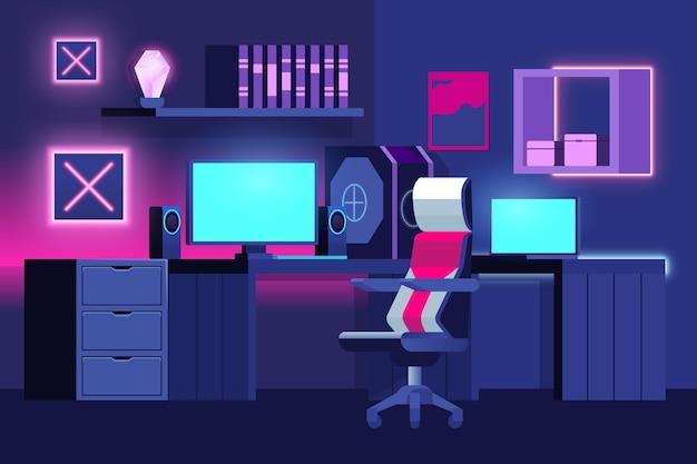 Ilustracja pokoju gracza