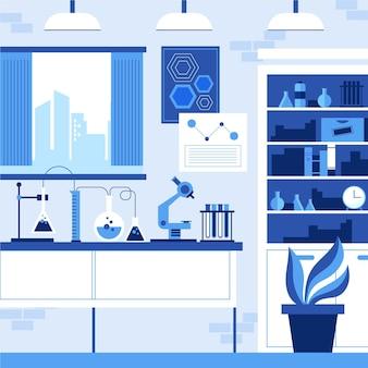 Ilustracja pokoju laboratoryjnego