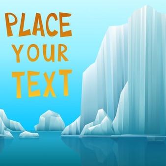 Ilustracja polarny krajobraz