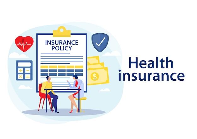 Ilustracja polisy ubezpieczenia zdrowotnego