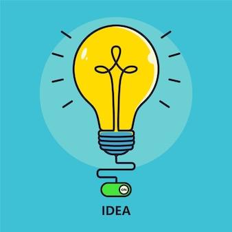 Ilustracja pomysł lampy
