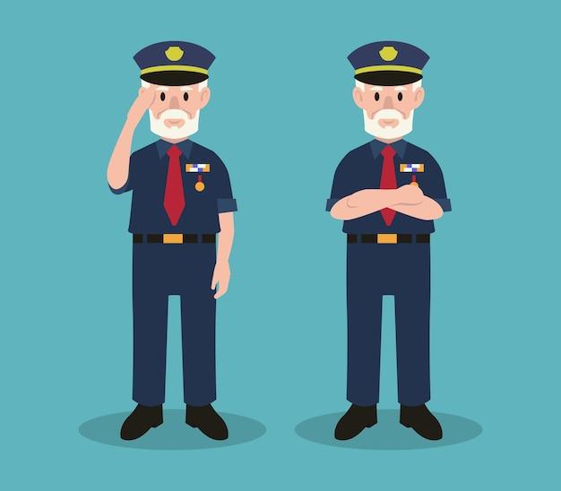 Ilustracja postaci armii dzień weterana