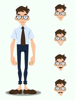 Ilustracja postaci człowieka biznesu