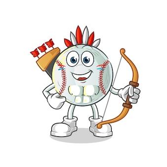 Ilustracja postaci indiańskiego plemienia baseballu
