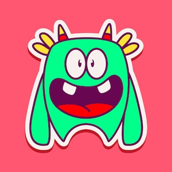 Ilustracja postaci ładny potwór