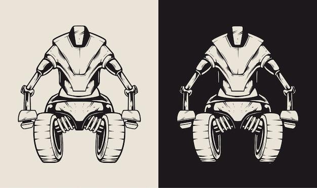 Ilustracja postaci robota maszyny