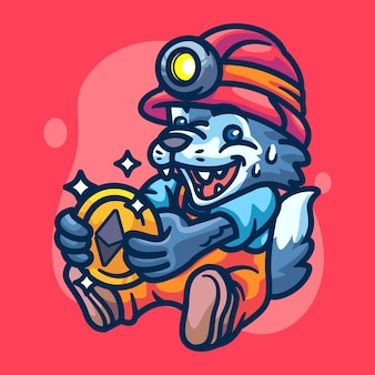 Ilustracja postaci wolf crypto miner