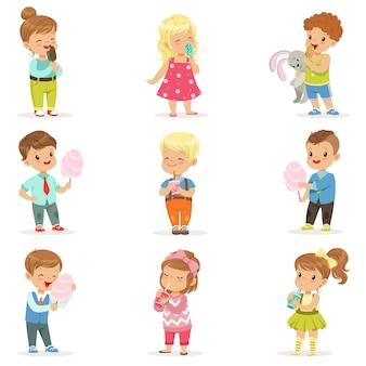 Ilustracja postaci z kreskówek. elementy dla dzieci na książkę, pocztówkę, plakat, baner, t-shirt.