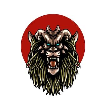 Ilustracja potwora bestii na okręgu