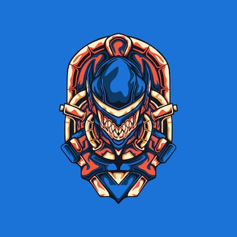 Ilustracja potwora cyborga