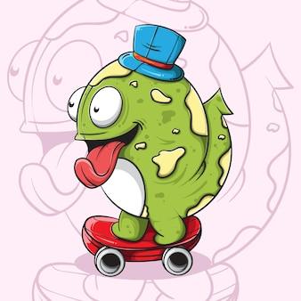 Ilustracja potwora doodle