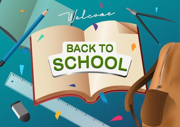 Ilustracja powitania z powrotem do szkoły