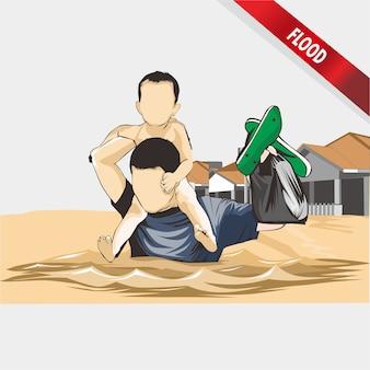 Ilustracja powodzi