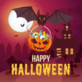 Ilustracja pozdrowienia halloween
