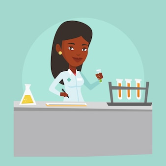 Ilustracja pracy asystenta laboratoryjnego.