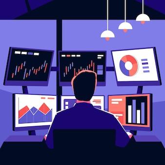 Ilustracja pracy przedsiębiorcy