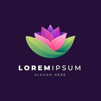 Ilustracja premium kolorowy streszczenie kwiat logo