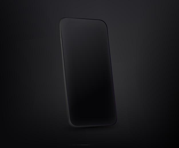 Ilustracja premium z warstwami nowoczesnego smartfona