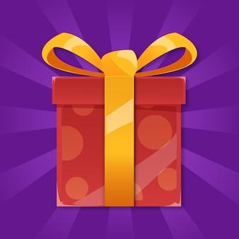 Ilustracja prezent na boże narodzenie
