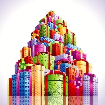 Ilustracja prezentów świątecznych