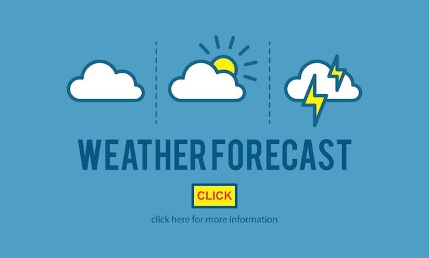 Ilustracja prognozy pogody wektor