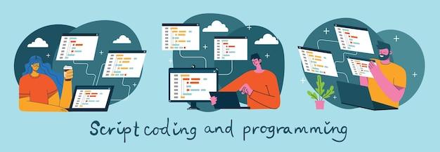 Ilustracja programowania i kodowania