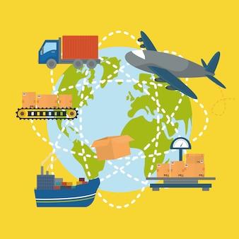 Ilustracja projekt dostawy