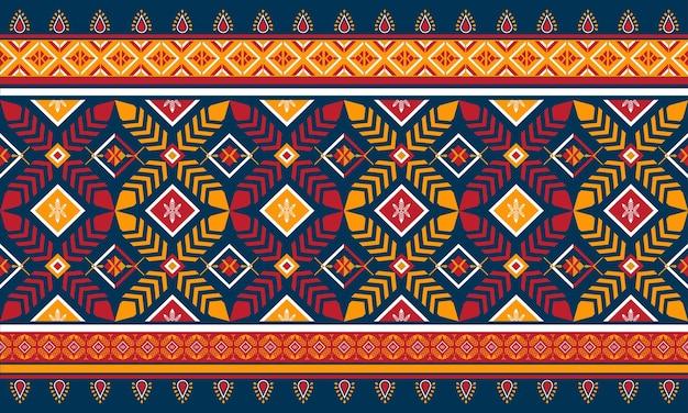 Ilustracja projekt geometryczny etniczne orientalne wzór