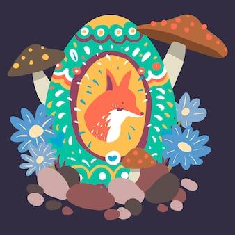 Ilustracja projekt jajko wielkanocne