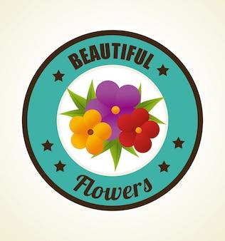 Ilustracja projekt kwiaty