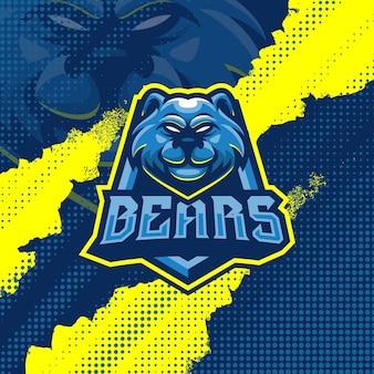 Ilustracja projekt logo maskotka niedźwiedzie