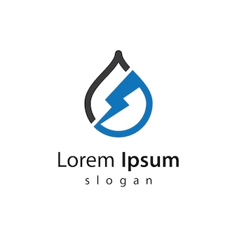 Ilustracja projekt logo wody strom