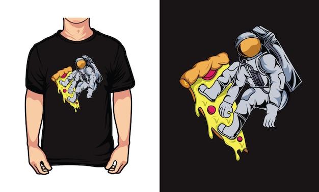 Ilustracja Projekt Pizzy Kosmicznej Premium Wektorów