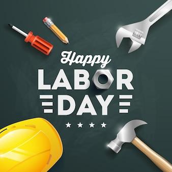 Ilustracja projekt plakatu szczęśliwy dzień pracy