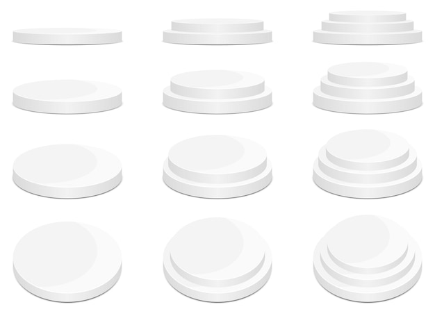 Ilustracja projekt rundy rundy podium na białym tle