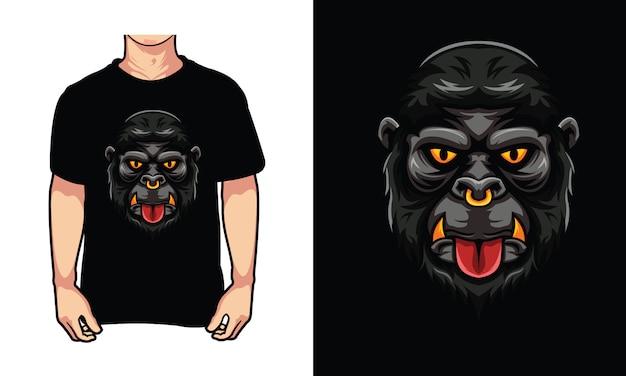 Ilustracja projekt twarz goryla