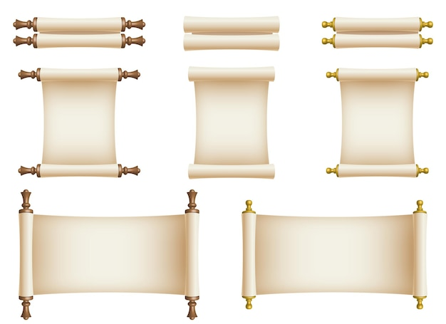 Ilustracja projekt zwoju papieru na białym tle