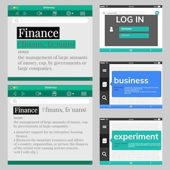 Ilustracja projektowania stron internetowych