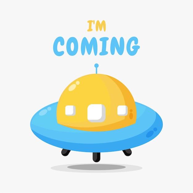 Ilustracja projektu dziecka ufo