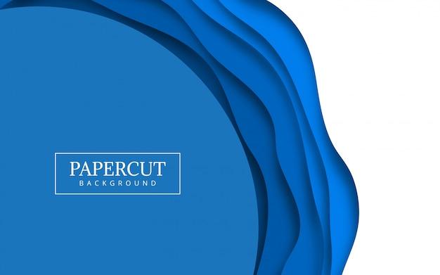 Ilustracja projektu fali papieru niebieski