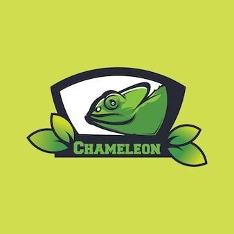 Ilustracja projektu kameleona, sylwetka kameleona