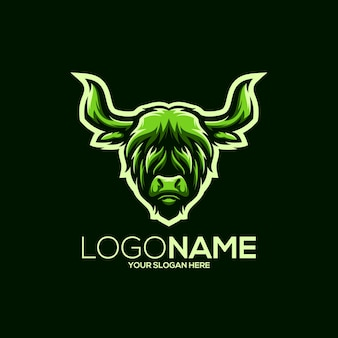 Ilustracja projektu logo buffalo