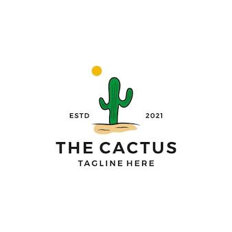 Ilustracja projektu logo kaktusa